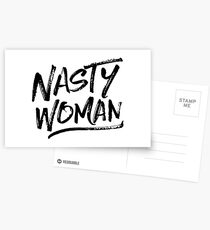 Nasty Woman - Black Postcards