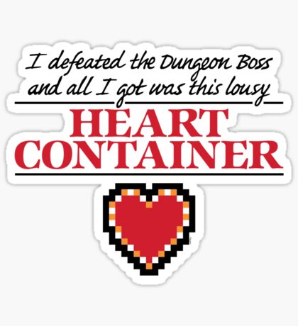 Lousy Heart Container Sticker