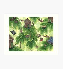 Little Leaf Village Art Print