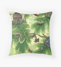 Little Leaf Village Throw Pillow