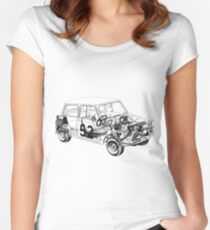 morris mini cooper Women's Fitted Scoop T-Shirt