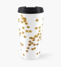 Holiday background with little golden stars Travel Mug