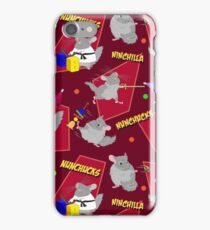 NinChilla Nunchucks In Cranberry iPhone Case/Skin