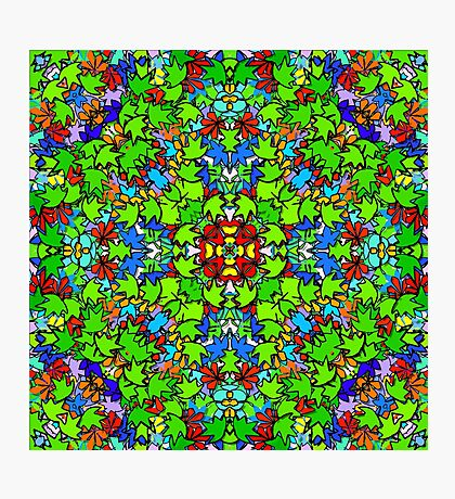 3D COLLIDE-O-SCOPE LEAFY MADNESS! Photographic Print