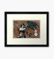 Black Fairy Lethal Framed Print