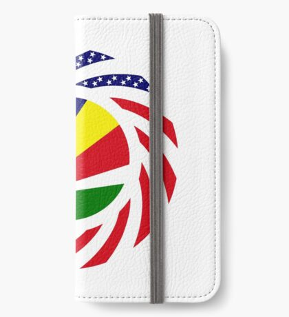 Seychellois American Multinational Patriot Flag Series iPhone Wallet