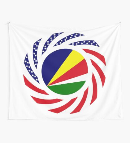 Seychellois American Multinational Patriot Flag Series Wall Tapestry