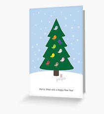 PioPio Xmas Greeting Card