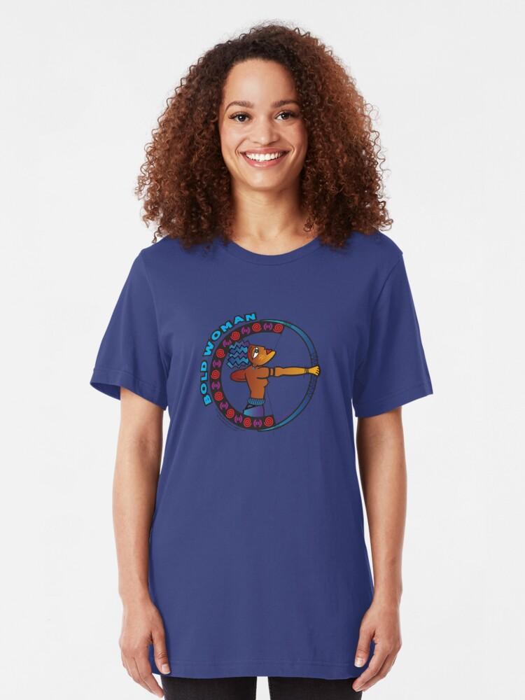 Alternate view of BOLD Woman - Amazon - Sappho Lives! Slim Fit T-Shirt