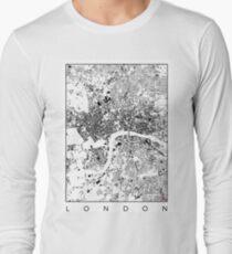 London Map Schwarzplan Only Buildings Urban Plan T-Shirt
