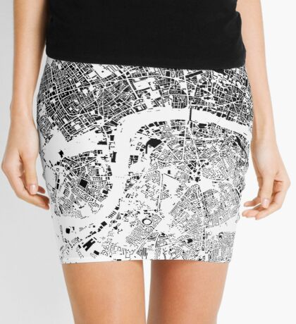 London Map Schwarzplan Only Buildings Urban Plan Mini Skirt