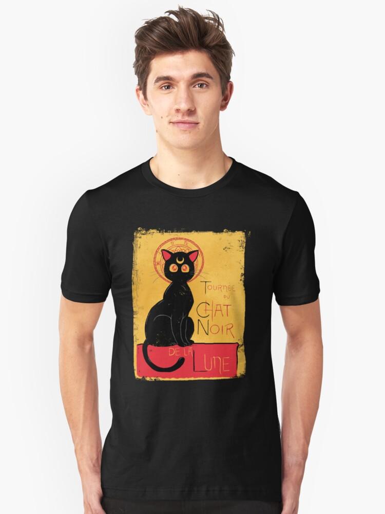 Chat Noir de la Lune - v.2.0 Unisex T-Shirt Front