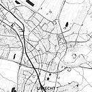 Utrecht Karte Grau von HubertRoguski
