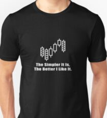 The Simpler It Is,The Better I Like It Cool Trader Investor Stock Design T-Shirt
