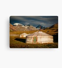 Traditional Kazakh Yurt in the Altai  Canvas Print
