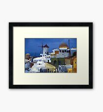 symphony in white and blue Framed Print