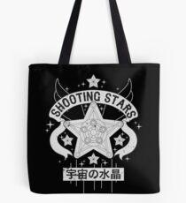 Monochrome Shooting Stars Tote Bag