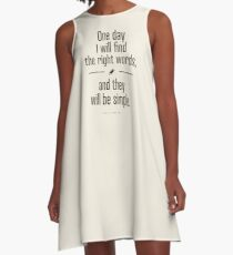 Jack Kerouac - The Dharma Bums quote A-Line Dress