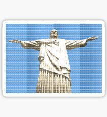 Christ The Redeemer - Blue Sticker