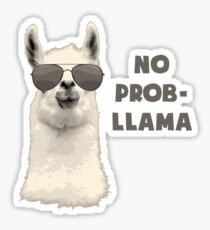 No Problem Llama Sticker
