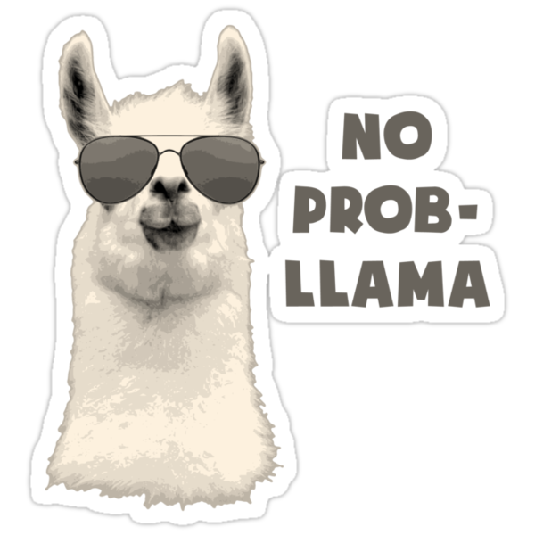 Quot No Problem Llama Quot Stickers By Theshirtyurt Redbubble