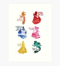 Princesses - Castle Art Print