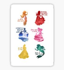 Princesses - Castle Sticker