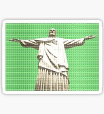 Christ The Redeemer - Green Sticker