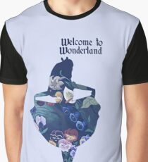 Welcome to Wonderland - Blue Graphic T-Shirt
