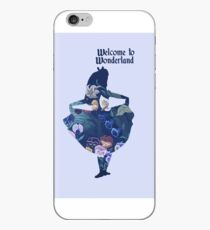 Welcome to Wonderland - Blue iPhone Case