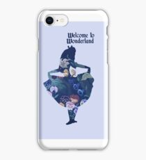 Welcome to Wonderland - Blue iPhone Case/Skin