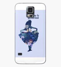 Welcome to Wonderland - Blue Case/Skin for Samsung Galaxy