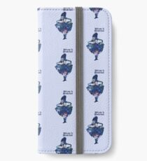 Welcome to Wonderland - Blue iPhone Wallet/Case/Skin