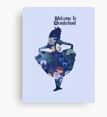 Welcome to Wonderland - Blue Canvas Print