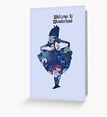 Welcome to Wonderland - Blue Greeting Card