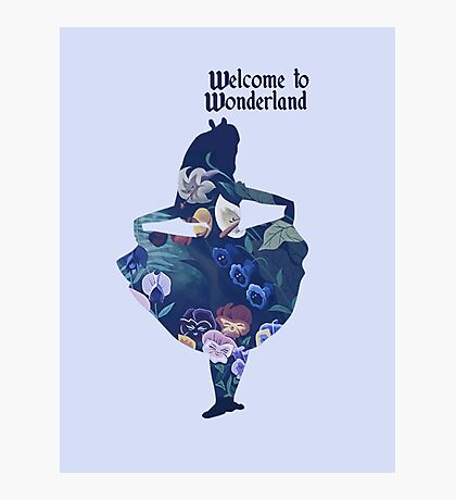 Welcome to Wonderland - Blue Photographic Print