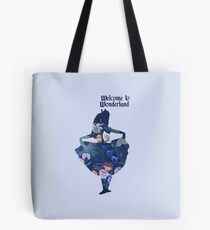 Welcome to Wonderland - Blue Tote Bag