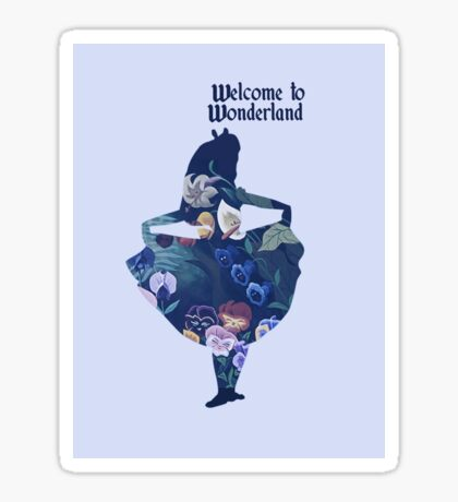 Welcome to Wonderland - Blue Sticker