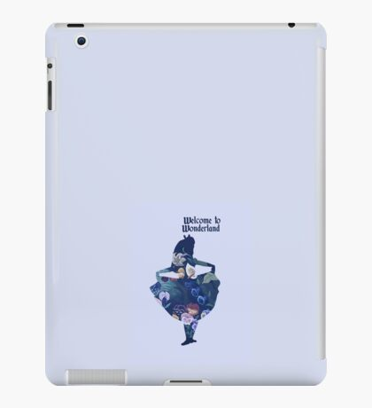 Welcome to Wonderland - Blue iPad Case/Skin