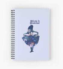 Welcome to Wonderland - Blue Spiral Notebook