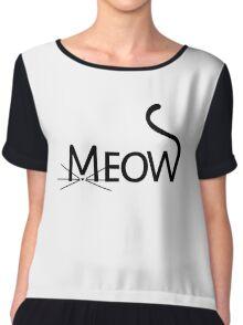 meow kitty cat women's t-shirt - girl's tee - ladies Sweatshirt Chiffon Top