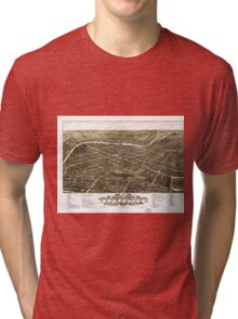 Panoramic View of Youngstown, Ohio (1882) Tri-blend T-Shirt
