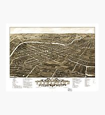 Panoramic View of Youngstown, Ohio (1882) Photographic Print