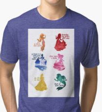 Princesses - Castle Tri-blend T-Shirt