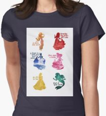 Princesses - Castle Womens Fitted T-Shirt