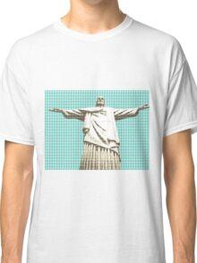 Christ The Redeemer - Light Blue Classic T-Shirt