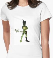 Never Grow Up Women's Fitted T-Shirt