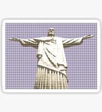 Christ The Redeemer - Violet Sticker