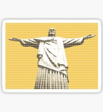 Christ the redeemer - Yellow Sticker