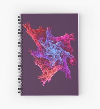 Heart chaos #fractal art Spiral Notebook